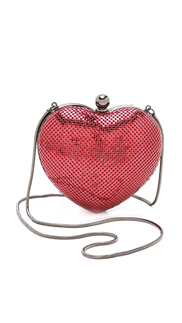 Whiting & Davis Charity Heart Clutch