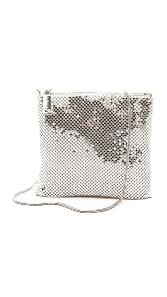 Whiting & Davis Square Bag with Snake Chain