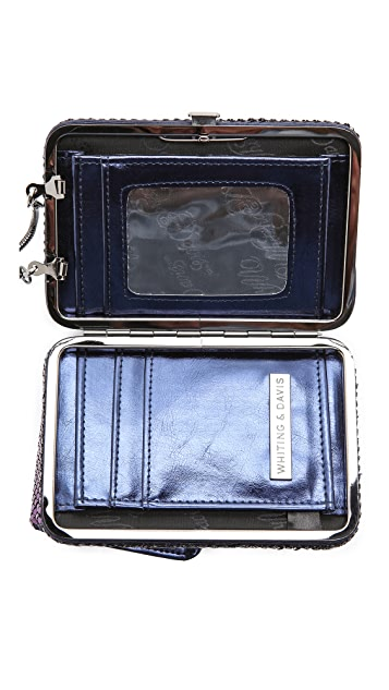 Whiting & Davis Framed Wallet with Phone Case