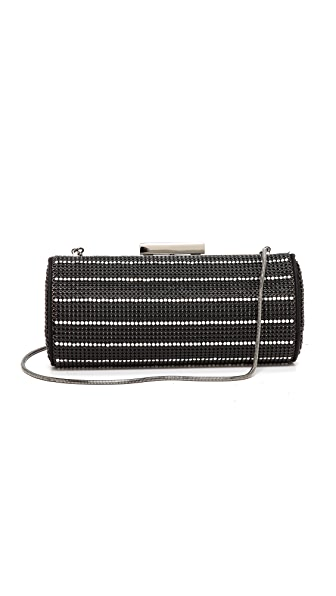 Whiting & Davis Crystal Pinstripes Clutch
