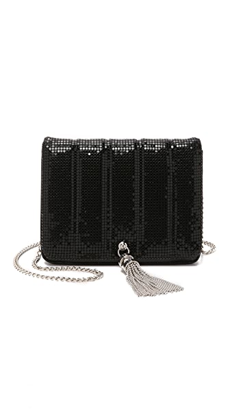 Whiting & Davis Quilted Tassel Bag - Black
