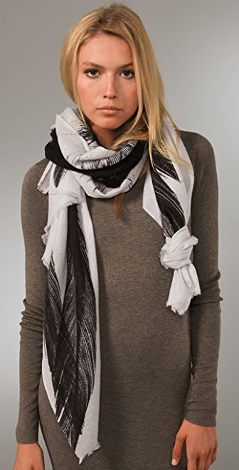 we are owls Three Feathers Scarf