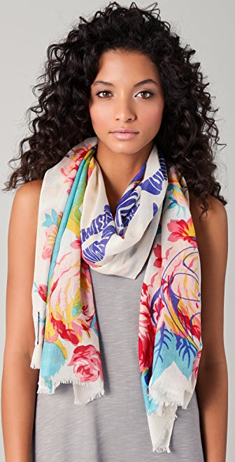 we are owls Flora & Fauna Cashmere Scarf
