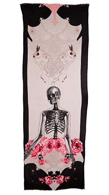 we are owls Skeleton Scarf