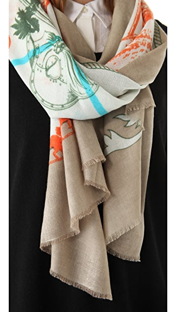 we are owls Knights Cashmere Scarf