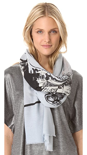 we are owls Ghost Knight Cashmere Scarf