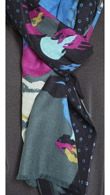 we are owls Phantoms Cashmere Scarf