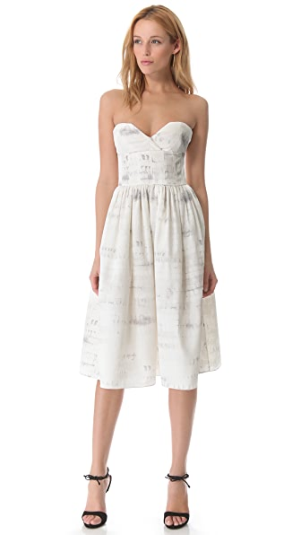 Wes Gordon Bustier Dress