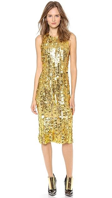 Wes Gordon Silk Sheath Dress