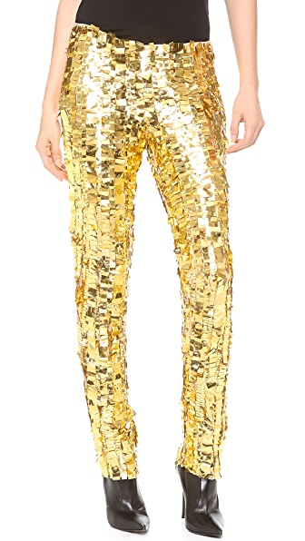 Wes Gordon Skinny Silk Pants