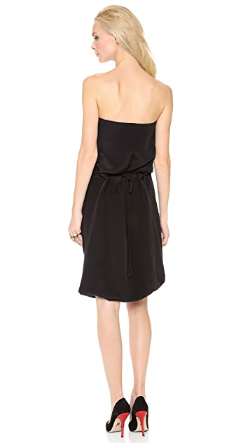 Wes Gordon Drawstring Bustier Dress