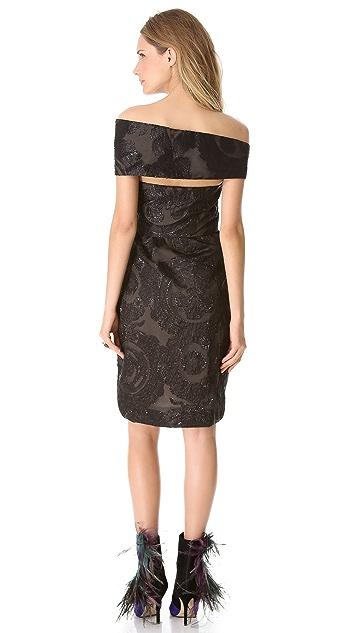 Wes Gordon Turban Empire Dress