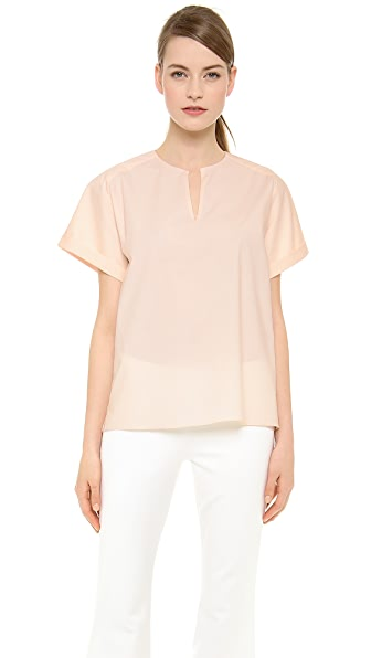 Wes Gordon Short Sleeve Blouse
