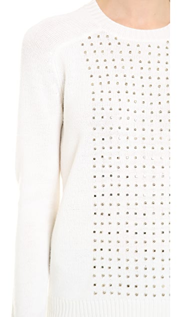 Wes Gordon Stud Embroidered Pullover