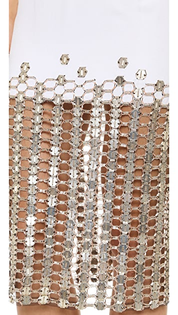 Wes Gordon Skirt with Swarovksi Crystals