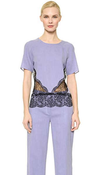 Wes Gordon Lace Band Blouse