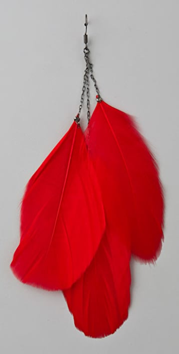 WGACA Vintage Feather Earrings