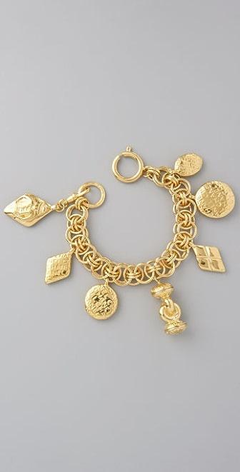 WGACA Vintage Vintage Chanel Coco Charm Bracelet