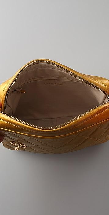 WGACA Vintage Vintage Chanel Slant Flap Bag