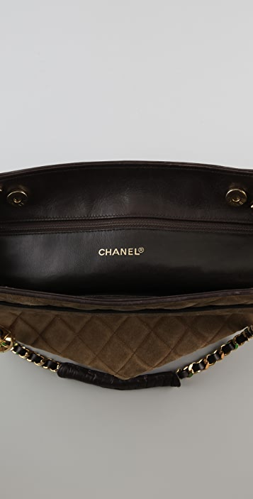 WGACA Vintage Vintage Chanel Suede & Leather Bag