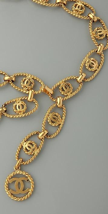 WGACA Vintage Vintage Chanel CC Oval Coin Belt