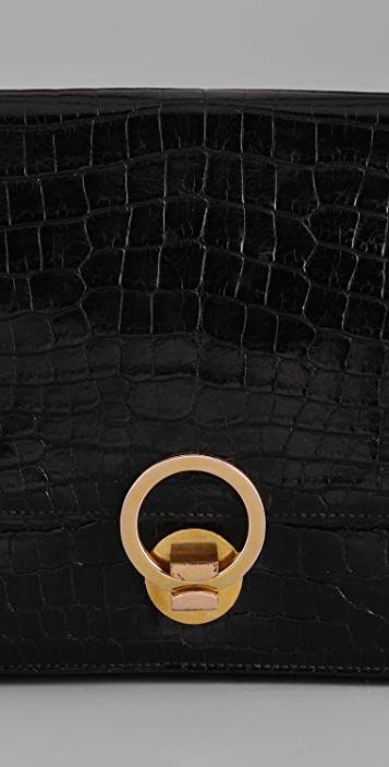 WGACA Vintage Vintage Hermes Crocodile Bag