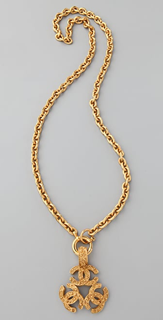 WGACA Vintage Vintage Chanel CC Triangle Necklace
