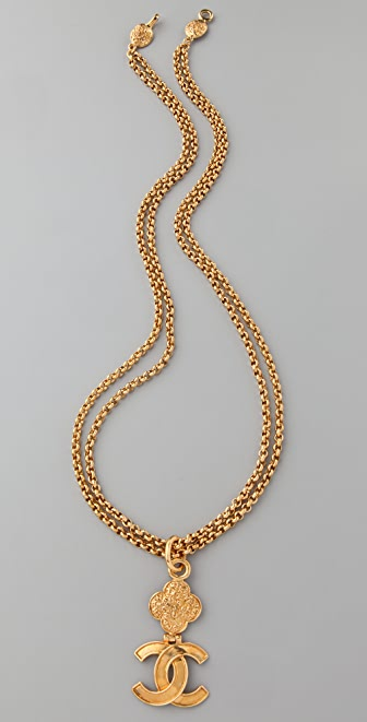 WGACA Vintage Vintage Chanel CC Double Chain Necklace