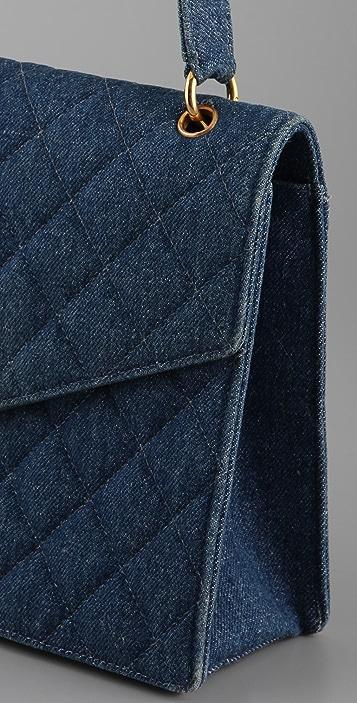 WGACA Vintage Vintage Chanel Quilted Denim Bag