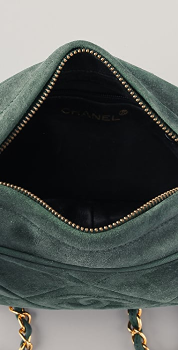 WGACA Vintage Vintage Chanel Suede Camera Bag
