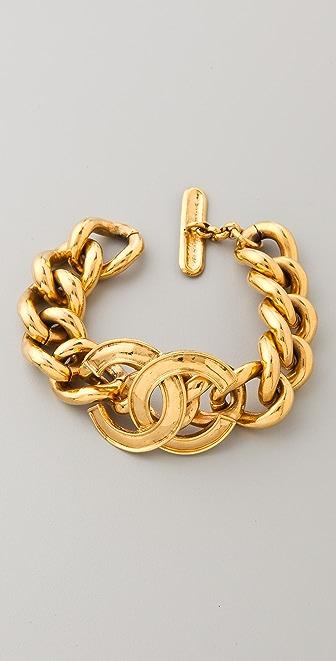 WGACA Vintage Vintage Chanel CC Link Bracelet