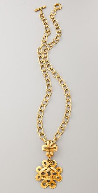 WGACA Vintage Vintage Chanel Swirled Flower Necklace