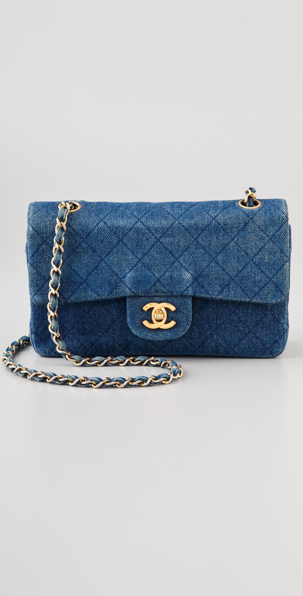 cce7e8cee8ad8e WGACA Vintage Vintage Chanel Quilted Denim Bag | SHOPBOP