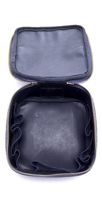WGACA Vintage Vintage Chanel Denim Cosmetic Case