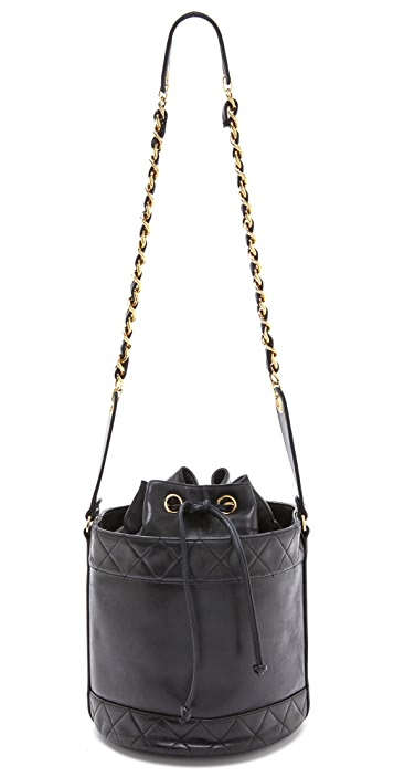 WGACA Vintage Vintage Chanel Black Bucket Bag