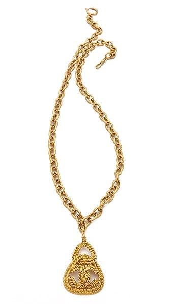 WGACA Vintage Vintage Chanel Rope Triangle Necklace