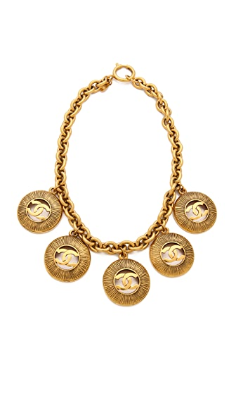 WGACA Vintage Vintage Chanel Sunburst Charm Necklace