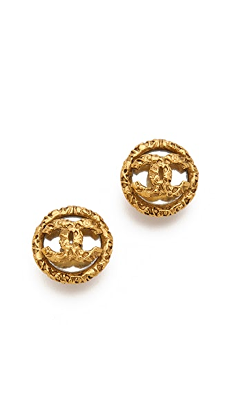 WGACA Vintage Vintage Chanel CC Crystal Earrings