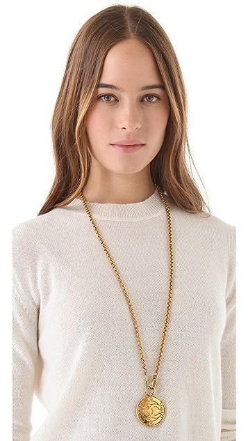 WGACA Vintage Vintage Chanel Mirror Necklace