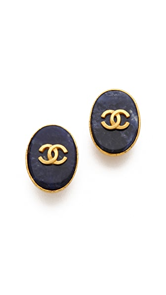WGACA Vintage Vintage Chanel Oval Earrings