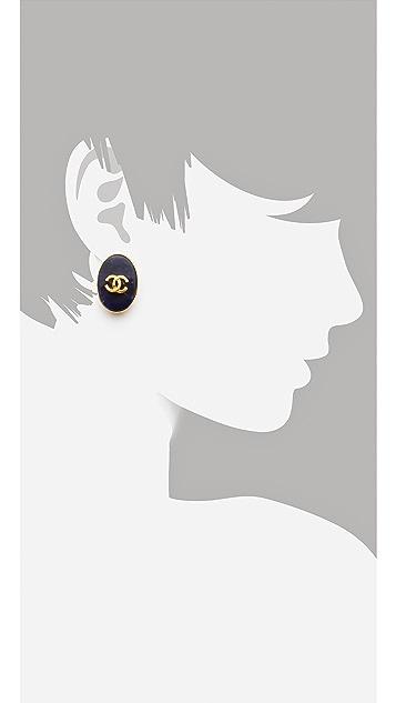 WGACA Vintage Vintage Chanel Oval Earrings