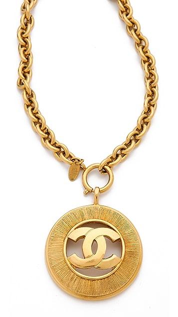 WGACA Vintage Vintage Chanel CC Burst Necklace