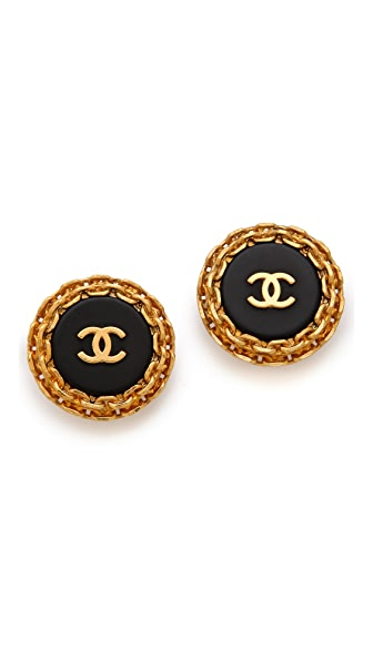 WGACA Vintage Vintage Chanel Edge Earrings
