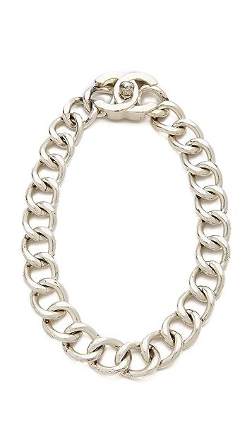 WGACA Vintage Vintage Chanel Lock Necklace