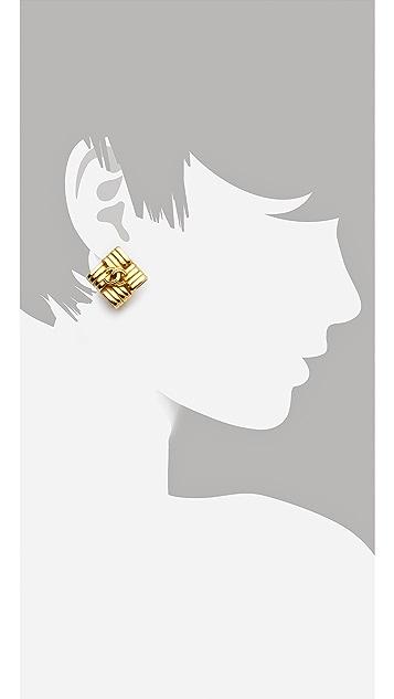 WGACA Vintage Vintage Chanel Square Earrings