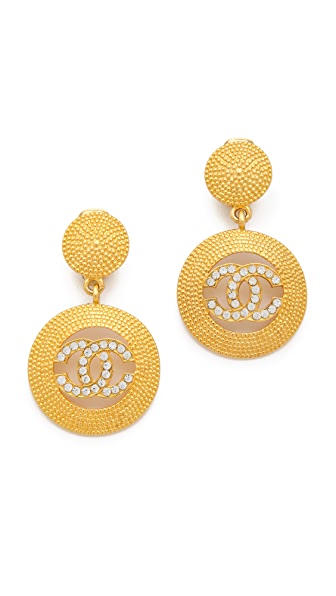 WGACA Vintage Vintage Chanel CC Drop Earrings