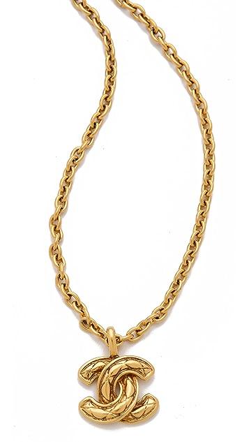 WGACA Vintage Vintage Chanel Quilt Necklace
