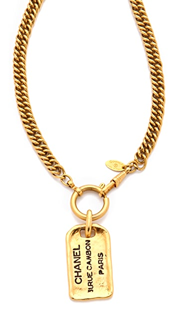 WGACA Vintage Vintage Chanel Plaque Necklace