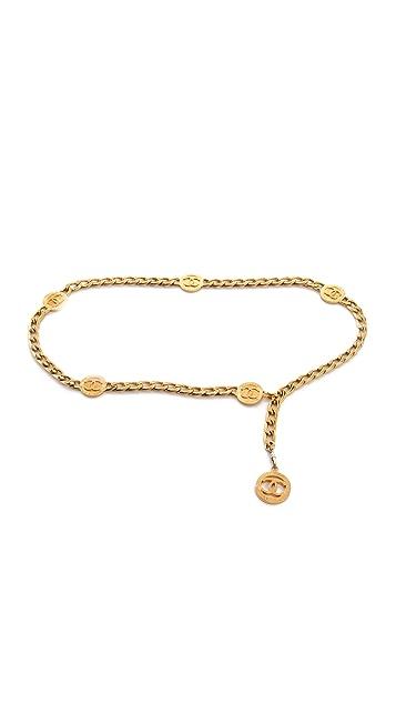 WGACA Vintage Vintage Chanel Gold Belt