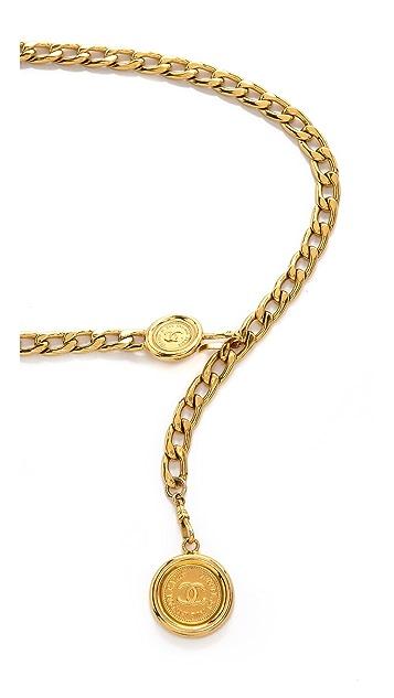 WGACA Vintage Vintage Chanel Cambon Coin Belt
